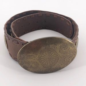 Guess Brown Leather Belt